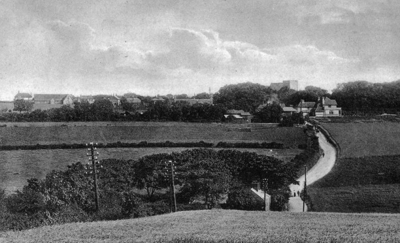 From the top of Station Road looking towards the village. 1908