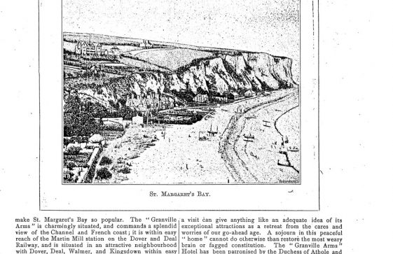 Feature on The Granville Arms Hotel, Hotel Road. 1891