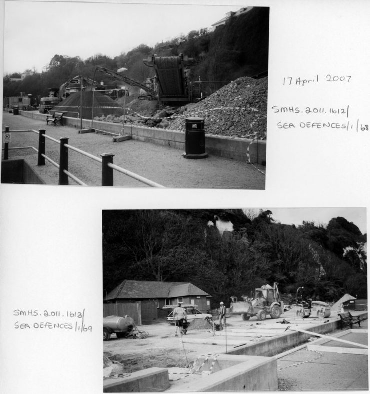 Improvements to the car park in St Margaret's Bay in April 2007