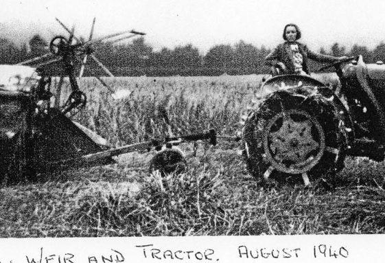 Jean Weir and a downed Messerschmitt 109. August 1940