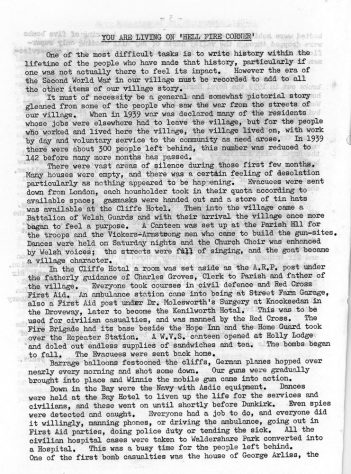 'Memories of Hell Fire Corner'  articles from the Parish News 1970 by Jean Melhuish and others