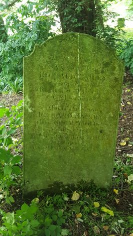 Gravestone of BAILEY Susannah 1833; BAILEY Richard 1838; BAILEY Frederick 1852
