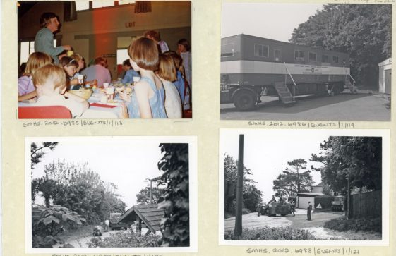 Childrens' Sunday School Tea 1984; Blood Donor vehicle 1984; Resurfacing Granville Road 1984