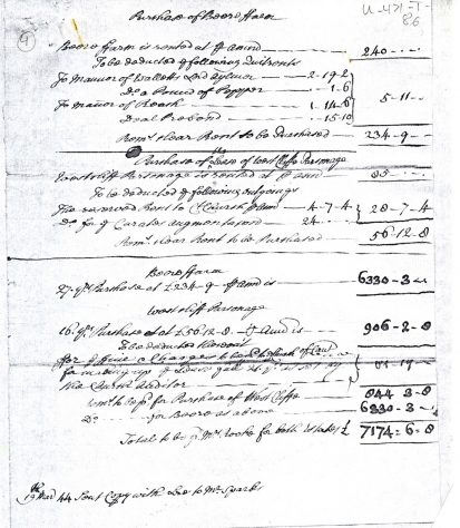 Document re purchase of  Bere Farm, 18th century