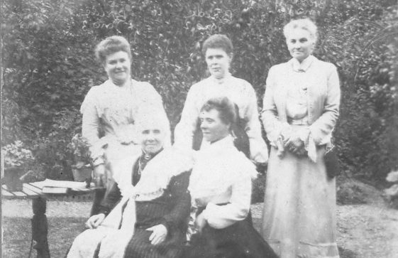 Two family portraits from the Madge Family album