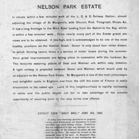 Extracts from a Nelson Park Estate sale catalogue. 1900