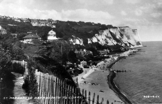 A view from the path leading down from the western end of the beach looking NE. 1920s