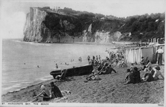 Ness Point from the beach. postmark 1934