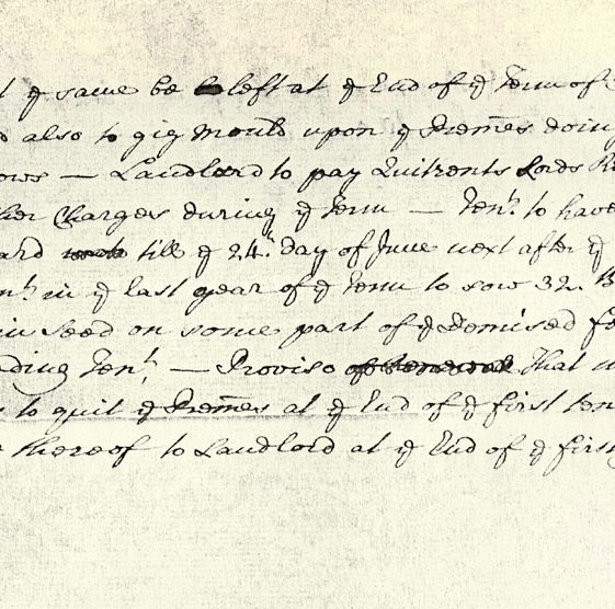 Lease document re Beer Mansion House and lands, and Westcliffe Parsonage. 1729