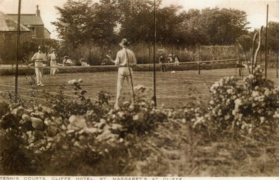 Cliffe Hotel Tennis Courts, Chapel Lane. c1900