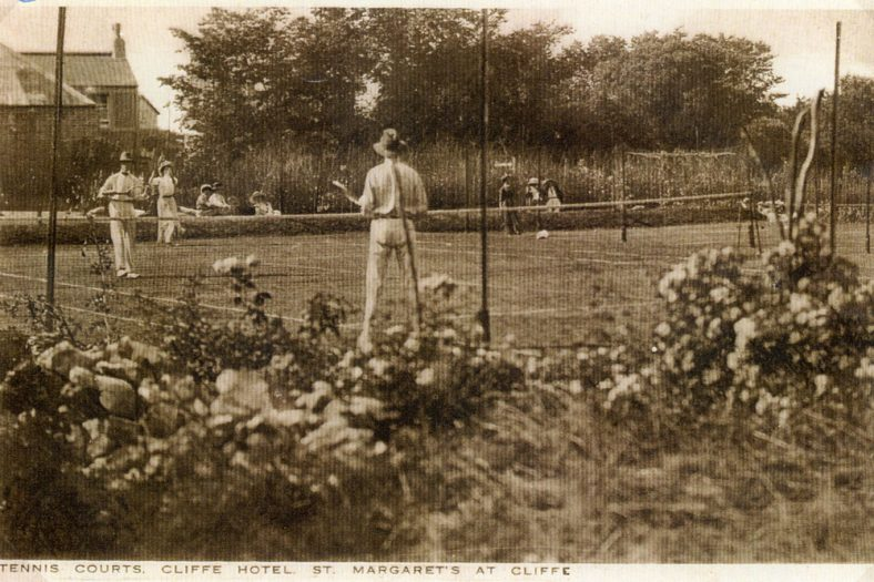 The Cliffe Hotel tennis courts (backing onto Chapel Lane). c1900
