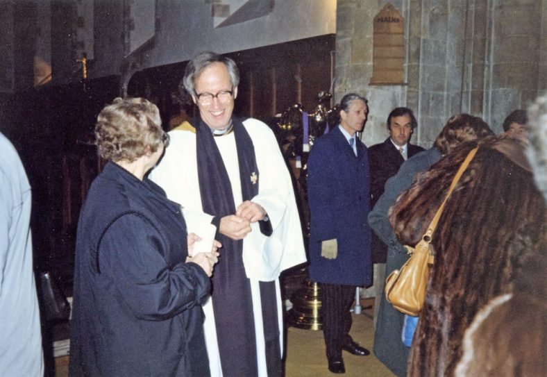 Induction Service of the Rev Christopher Wayte at St Margaret's Church. December 1985