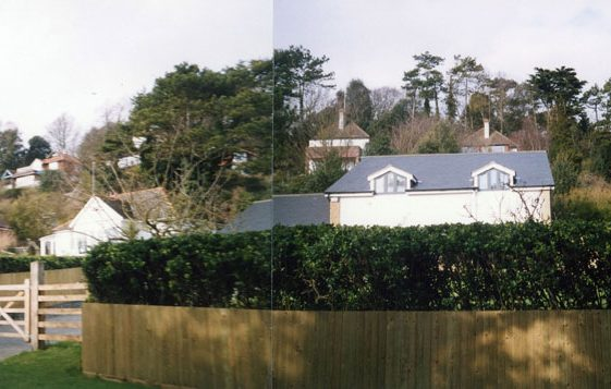 'High Trees' and 'Rosemary House' in Foreland Road. 15th February 2005