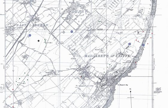 Bomb and shell sites in St Margaret's. 1941