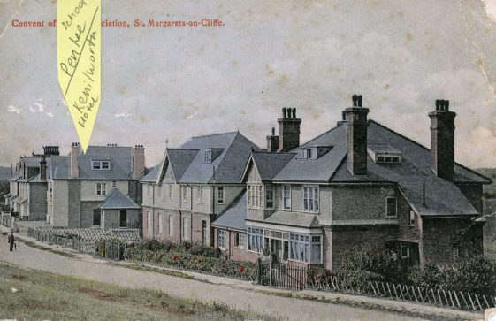 Penlee School and the Convent, The Droveway. postmark 1906