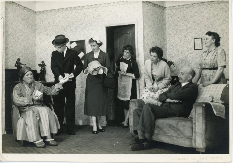 A scene from an unidentified St Margaret's Players drama. Probably 1950's