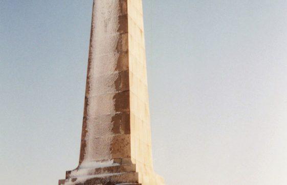 Dover Patrol Memorial in snow. January 2004