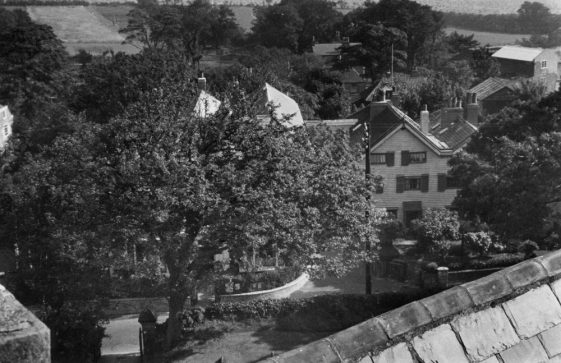 Cliffe Hotel from the Church tower roof. Undated