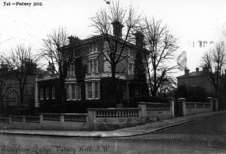 Broughton Lodge Putney SW15, one time home of Sir William and Lady Madge