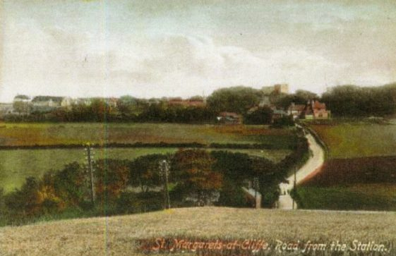 From the top of Station Road looking towards the village