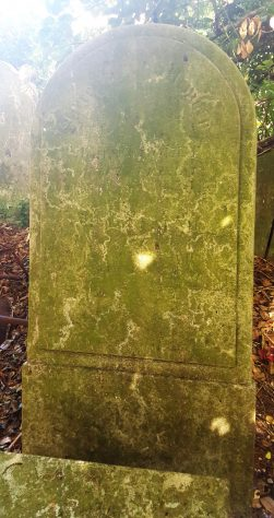 Gravestone of COOLEY John 1854; COOLEY Sarah 1865