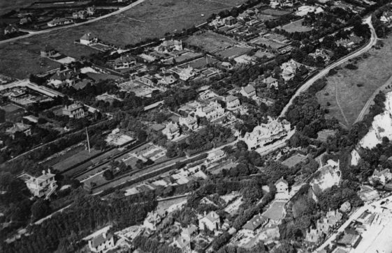Aerial view of St Margaret's Bay, pre-1939