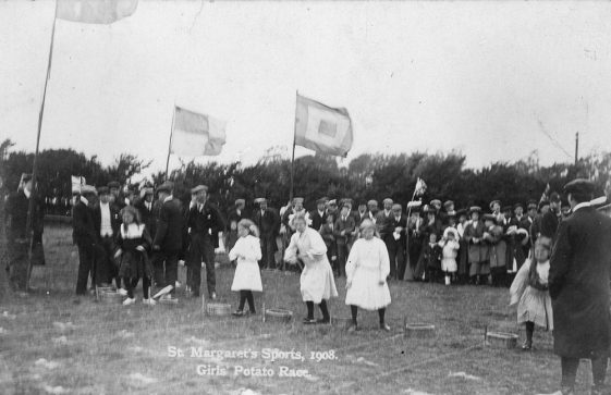 Girls' Potato Race at St Margaret's Sports Day. 1908