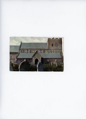St Margaret's Church from the north.  Late 19th century