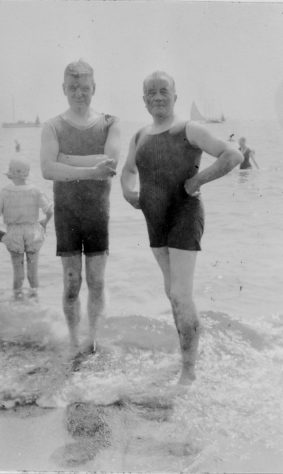 Two Fathers: Alexander Laing and John Denoon. c1924