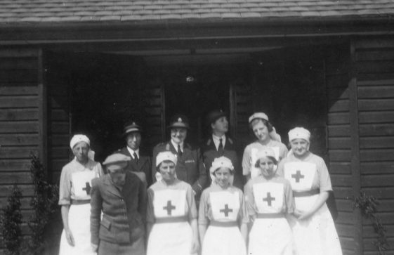 A group of Red Cross members in wartime, pre 1944
