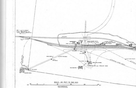 A site plan for the WW2 Cross Channel Gun eventually named Pooh