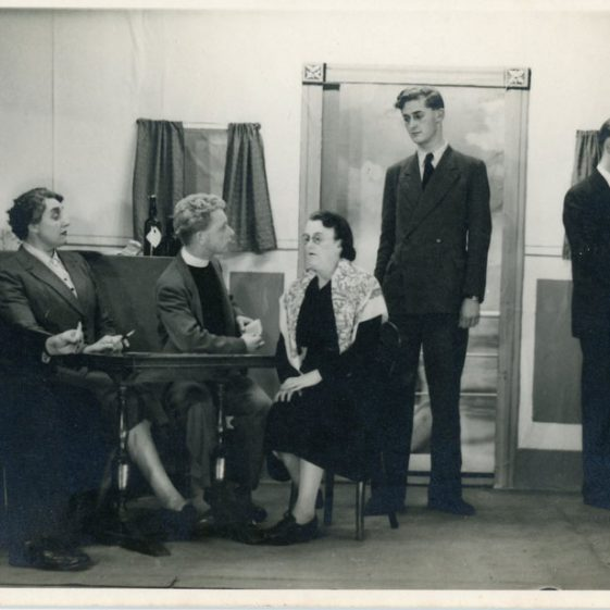 Cast of an unidentified St Margaret's Players drama. Probably 1950's