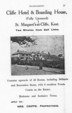 Cliffe Hotel, High Street. 1925