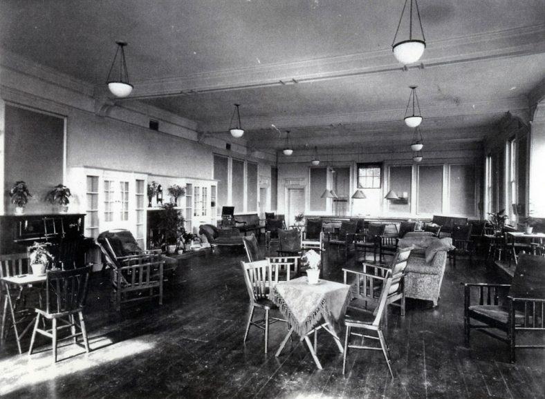 Portal House Recreation Room. c1920