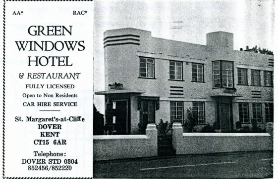 Green Windows Hotel, Sea Street. Extract from the Dover Guide 1974