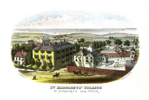 Engraving of St Margaret's College and associated buildings. c1860