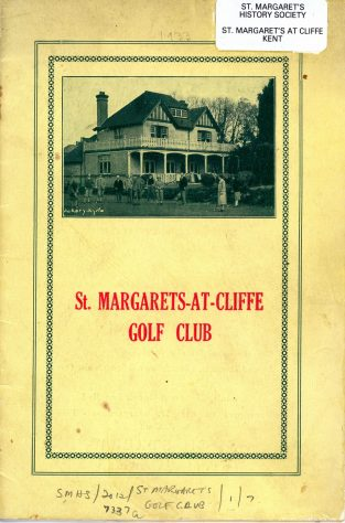 St Margaret's at Cliffe Golf Club Official Handbook. 1933