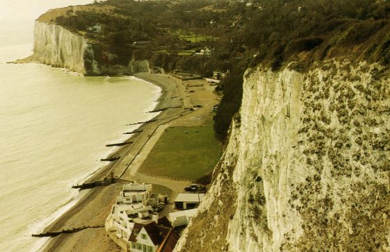 The Bay, Cliffs and South Foreland Valley from The Leas. Postwar.