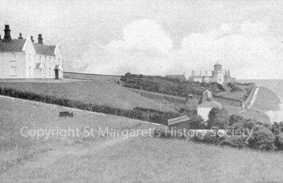 Lower South Foreland Lighthouse and engine house. c1920