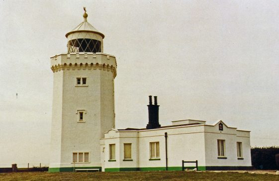 A postcard produced for B Cordes Newsagents showing the South Foreland Lighthouse. 20th Century
