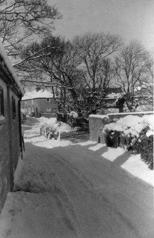 Chapel Lane in snow. Undated