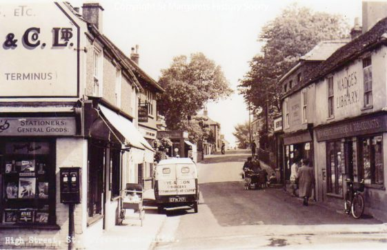 High Street, Gough's Post Office and Madge's Stores. 1953-1959