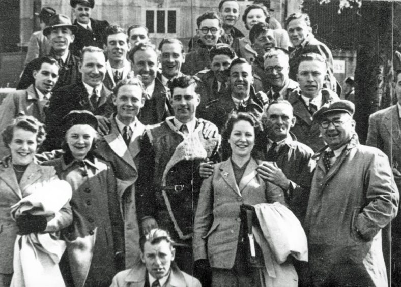 Ringwould FC Supporters Club at Wembley 1951