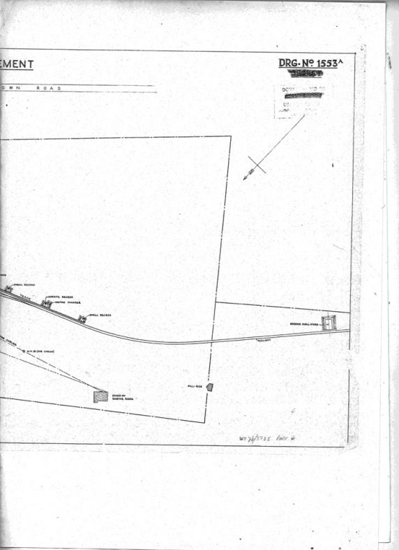 Site plan for the WW2 Cross Channel Gun 'Pooh'