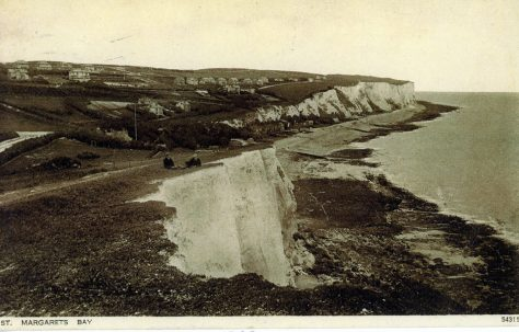 St Margaret's Bay from cliff top looking north. 1900-1905
