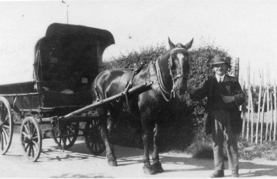 Wellard's Wagon with Billy Wellard and Jesse Clayson at the reins. Undated