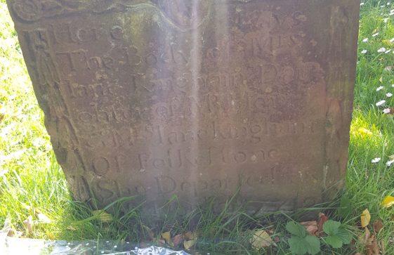 Gravestone of KINGHAM Jane 1749