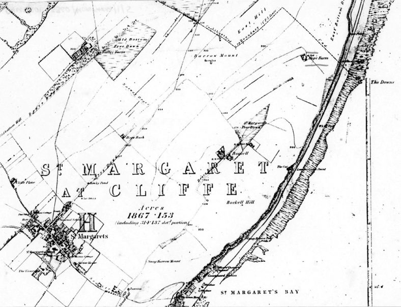 Photocopy of 1876 OS Map showing Hope Farm