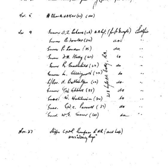 Deaths of 11 servicemen in Reach Road on 9th November 1942