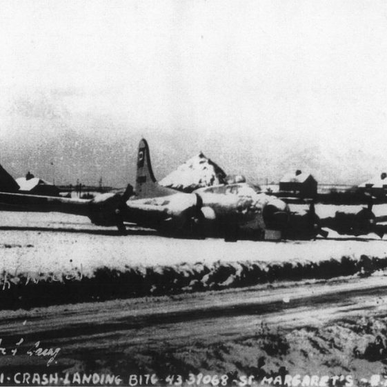 USAAF B17 Bomber crash-landed at Nelson Park. January 8th 1945